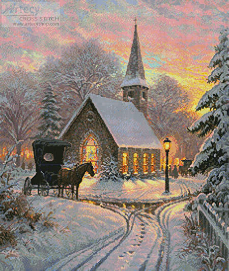 cross stitch pattern Carriage Chapel