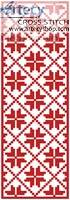 cross stitch pattern Christmas Bookmark
