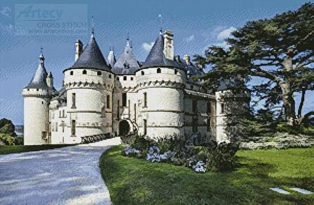 cross stitch pattern Chateau de Chaumont