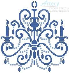 cross stitch pattern Chandelier