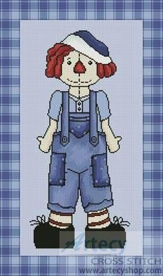 cross stitch pattern Country Andy