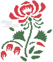 cross stitch pattern Colonial Rose
