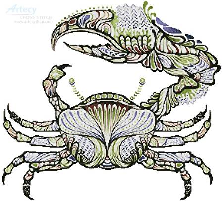 cross stitch pattern Crab