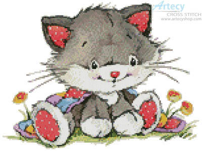 cross stitch pattern Cute Kitty