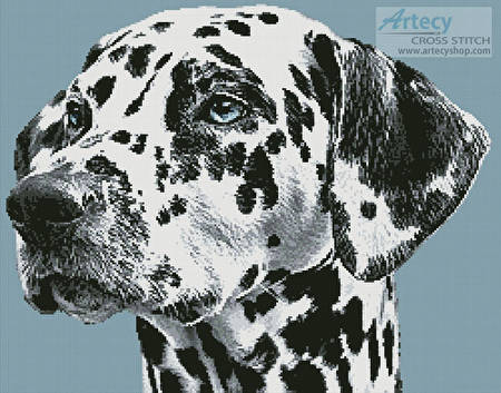 cross stitch pattern Dalmatian Portrait