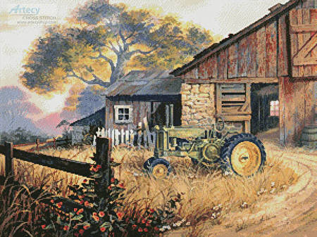 cross stitch pattern Deere Country
