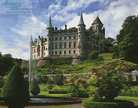 cross stitch pattern Dunrobin Castle