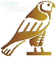 cross stitch pattern Egyptian Hawk