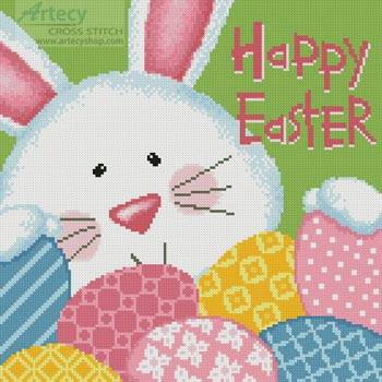 cross stitch pattern Easter Greeting
