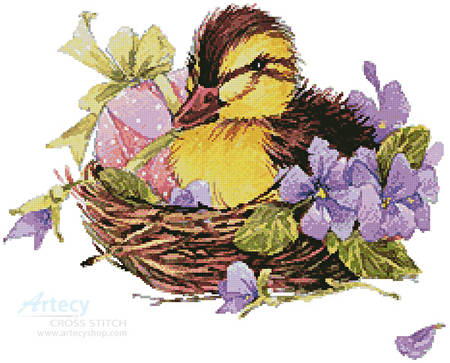 cross stitch pattern Easter Duck