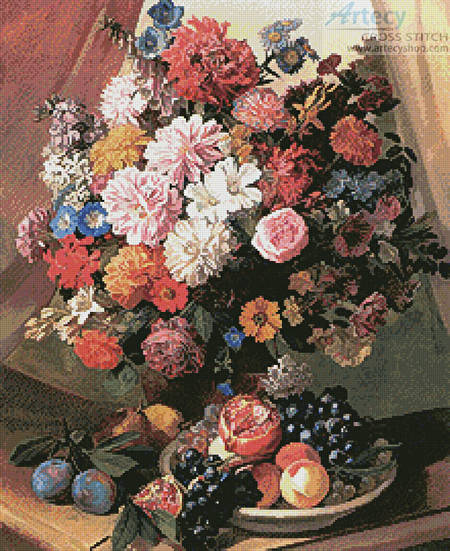 cross stitch pattern Flowers and Fruits