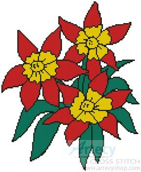 cross stitch pattern Floral 2