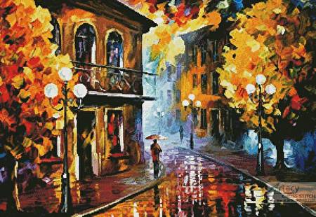 cross stitch pattern Fall Rain 2