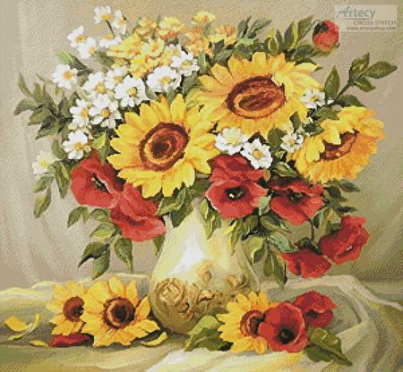 cross stitch pattern Flowers of Summer