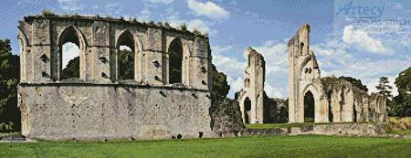 cross stitch pattern Glastonbury Abbey