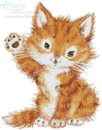 cross stitch pattern Hello Kitten