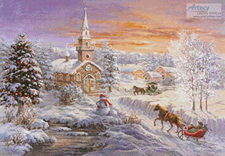 cross stitch pattern Holiday Worship
