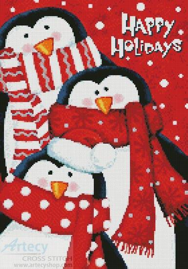 cross stitch pattern Happy Holidays
