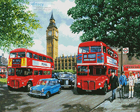 cross stitch pattern Happy Days London