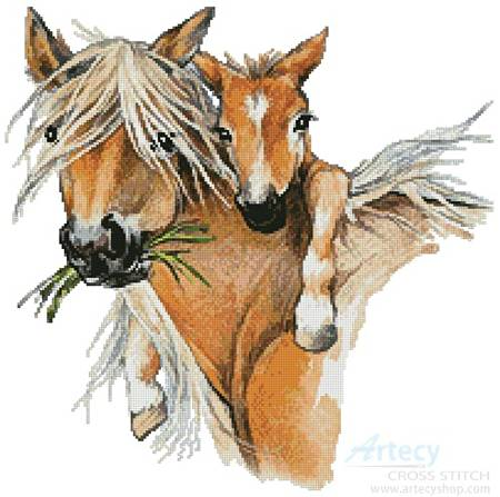 cross stitch pattern Horse Hug