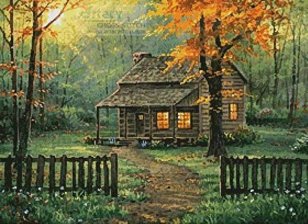 cross stitch pattern Home Sweet Home 2