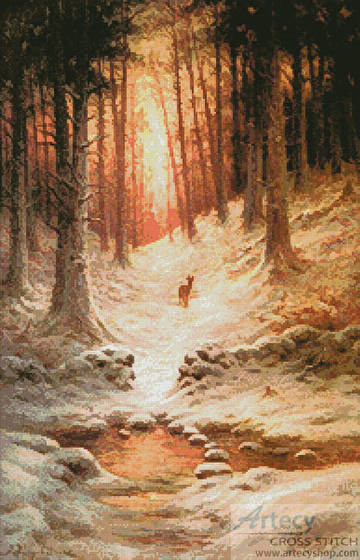 cross stitch pattern In Deep Midwinter