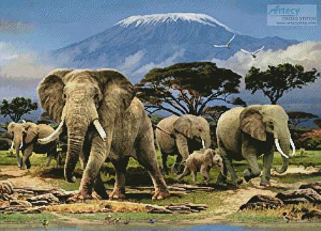 cross stitch pattern Kilimanjaro Morning