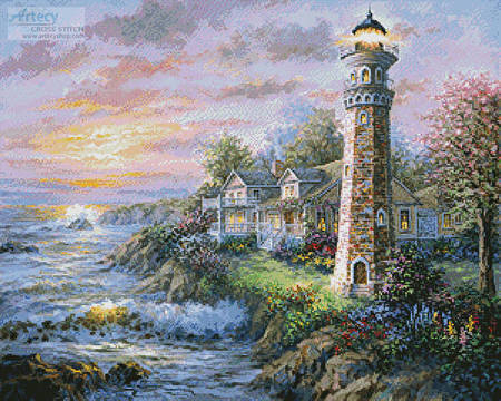 cross stitch pattern Lighthouse Haven 2