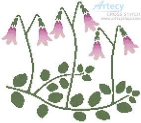 cross stitch pattern Linnea Flowers