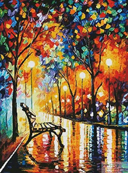 cross stitch pattern Loneliness of Autumn