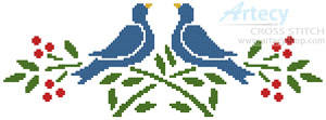 cross stitch pattern Little Lovebirds