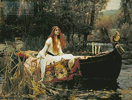 cross stitch pattern The Lady of Shalott