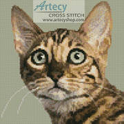 cross stitch pattern Mini Bengal Cat
