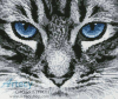 cross stitch pattern Mini Blue Eyes 2