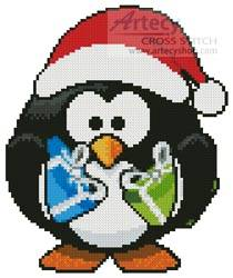 cross stitch pattern Mini Christmas Penguin