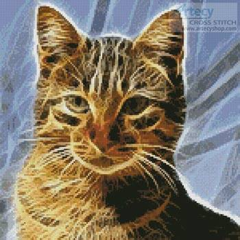 cross stitch pattern Mini Cat Fractal