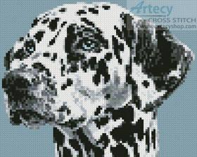 cross stitch pattern Mini Dalmatian Portrait