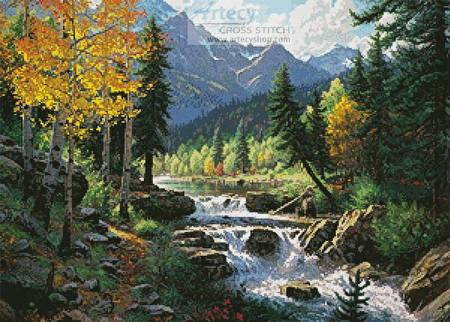 cross stitch pattern Mountain Melody