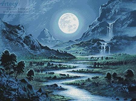 cross stitch pattern Moonrise Kingdom