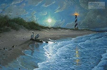 cross stitch pattern Moonlit Cove