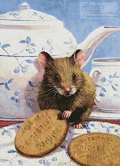 cross stitch pattern Mouse