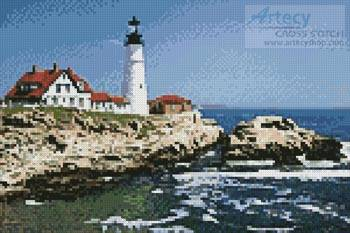 cross stitch pattern Mini Portland Head Lighthouse