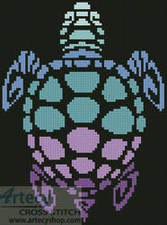 cross stitch pattern Mini Sea Turtle
