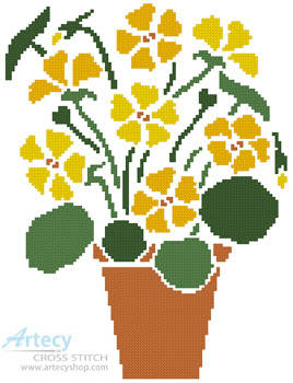 cross stitch pattern Nasturtium