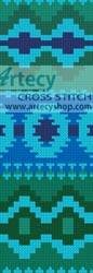 cross stitch pattern Native Design Bookmark 2