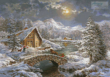 cross stitch pattern Natures Magical Season