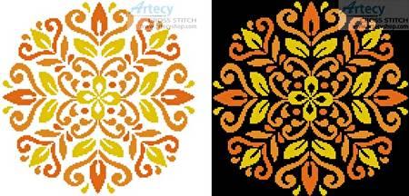 cross stitch pattern Ornamental Floral 1