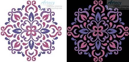 cross stitch pattern Ornamental Floral 2