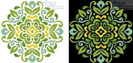cross stitch pattern Ornamental Floral 3