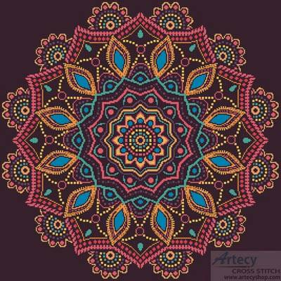 cross stitch pattern Ornamental Mandala